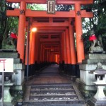 Image of a shrine in Kyoto - Fushimi Inari - that we visited during our Japan trip in 2014.
